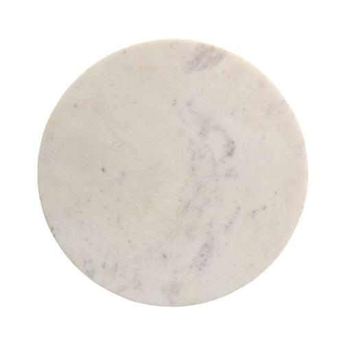 Tov Furniture - Indio White Marble Side Table