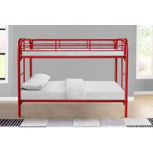 See Details - 7540 RED Metal Bunk Bed