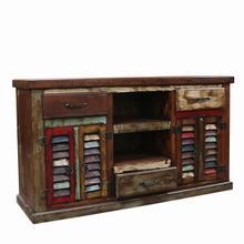 Painted 4 Door/3 Drawer TV Stand