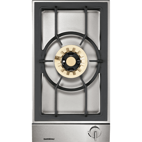 "Gaggenau - 200 series Vario 200 series gas wok cooktop Stainless steel control panel Width 12 "" (38 cm) Natural gas Wok burner with up to 5.5 KW"