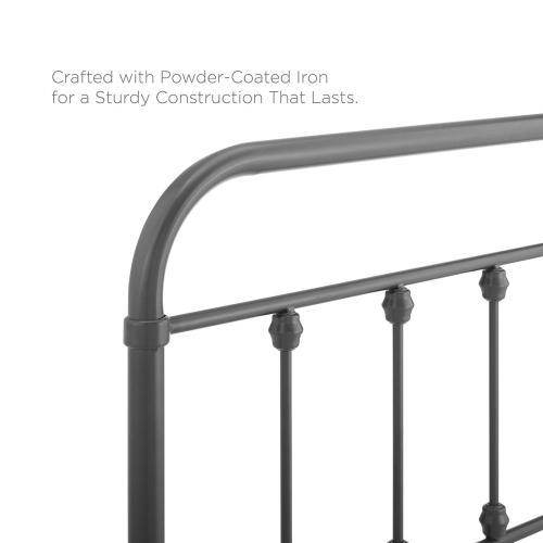 Modway - Sage Twin Metal Headboard in Gray
