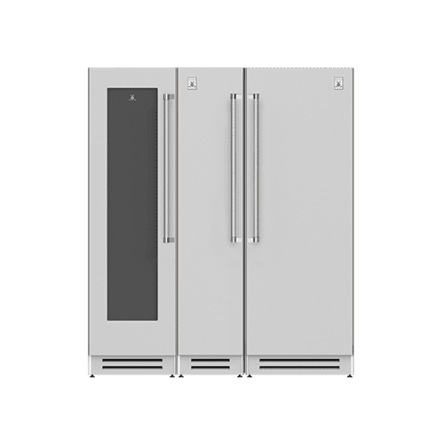 "Hestan - 72"" Wine Cellar (L), Column Freezer and Refrigerator ® Ensemble Refrigeration Suite - Stealth"