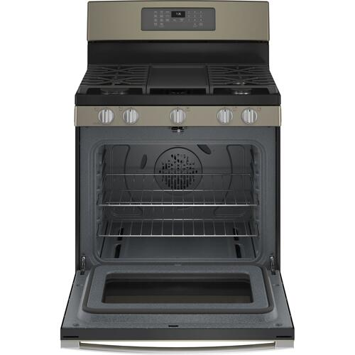 "GE® 30"" Free-Standing Gas Convection Range with No Preheat Air Fry"