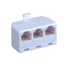 Modular Triplex 2-Line Jack