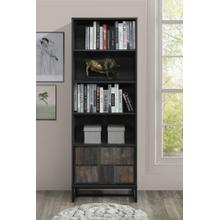 """See Details - 2008 RUSTIC GRAY Faux Wood Book Shelves - 69"""" H"""