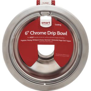 FrigidaireSmart Choice 6'' Chrome Drip Bowl, Fits Most