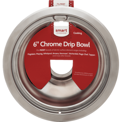 See Details - Smart Choice 6'' Chrome Drip Bowl, Fits Most