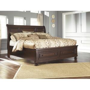 Porter Queen Storage Bed Rustic Brown