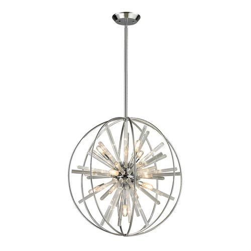 Twilight 10-Light Chandelier in Polished Chrome