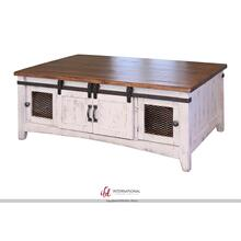 View Product - Storage Coffee Table with 2 Sliding Doors