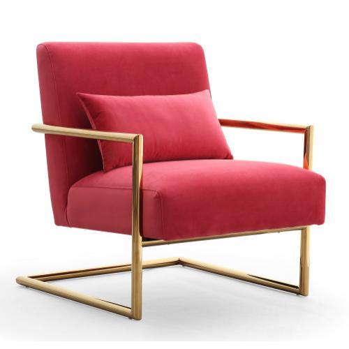 Elle Pink Velvet Chair