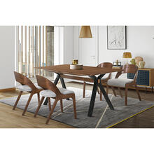 Laredo and Polly 5 Piece Walnut Rectangular Dining Set