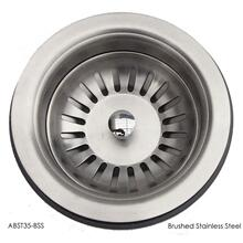 "ABST35-BSS Brushed Stainless Steel 3 1/2"" Basket Strainer Drain"