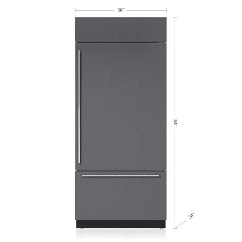 """(((SOLD))) - SAVE $2,000!!! SUB~ZERO 36"""" RIGHT HINGE Classic Over-and-Under Refrigerator/Freezer - Panel Ready - SHOWROOM FLOOR MODEL / PRISTINE CONDITION / 1 YEAR FULL WARRANTY-5 YEARS PARTS COVERAGE"""