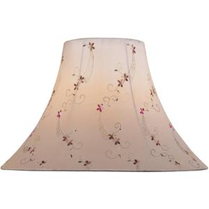 "Light Beige Jacquard Bell Shade - 6""tx16""bx12""sl"