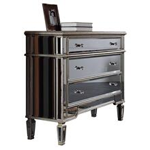 3 Drawer Cabinet 42 in. x 16 in. x 36 in. in Silver Leaf