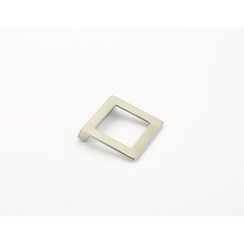 Finestrino, Pull, Angled Square, Satin Nickel, 32 mm cc