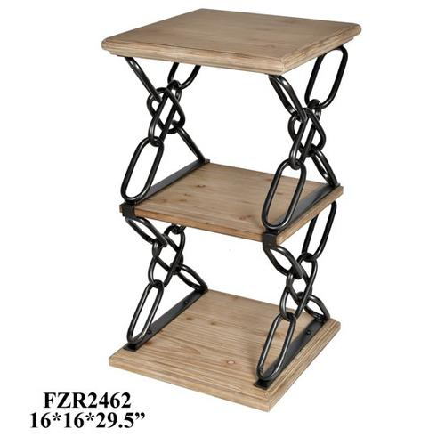 Product Image - 16X15.75X29.5 WOOD & METAL TABLE, 1PC/ 3.86'