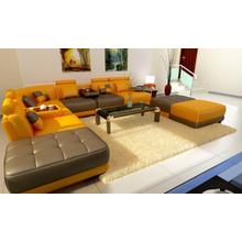 Divani Casa 5004 - Modern Bonded Leather Sectional Sofa