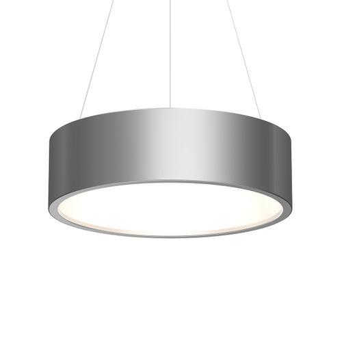 "Sonneman - A Way of Light - Tromme LED Pendant [Size=24"" Standard, Color/Finish=Bright Satin Aluminum]"