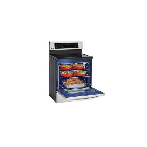 6.3 cu.ft. Large Capacity Electric Range with Infrared Grill and True Convection