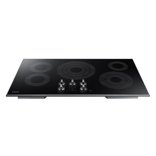 "36"" Smart Electric Cooktop in Black Stainless Steel"
