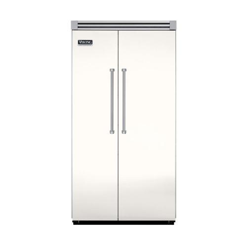 "Viking - Cotton White 42"" Quiet Cool™ Side-by-Side Refrigerator/Freezer - VISB Tru-Flush™ (42"" wide)"