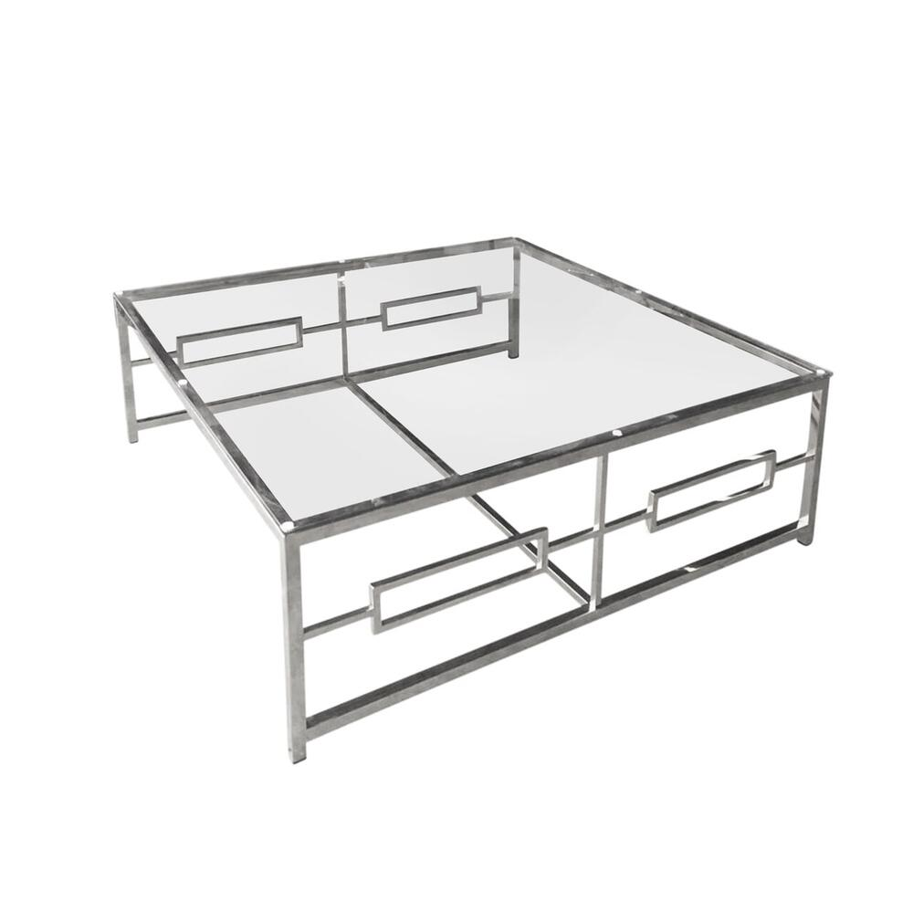 Stainless Steel/glass Cocktail Table, Silver Kd