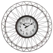 Grand Hotel Metal Ornament Wall Clock