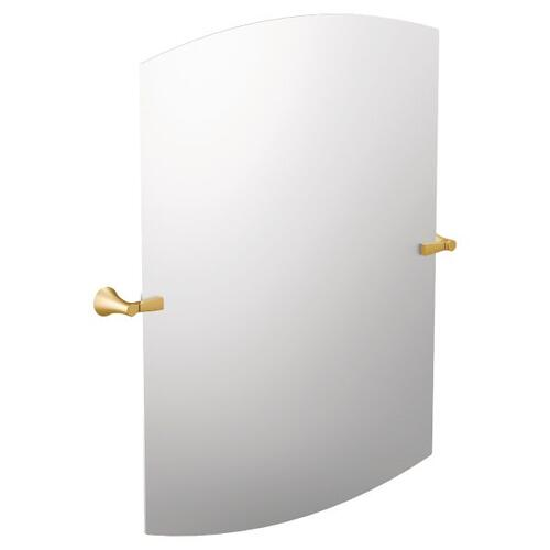 Flara brushed gold mirror