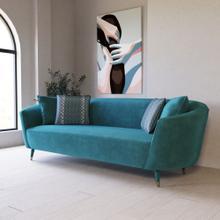 Divani Casa Jenner - Modern Aqua Velvet Sofa