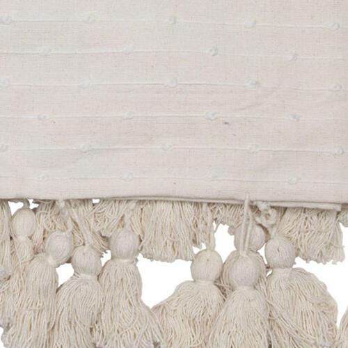 Foreside Home & Garden - Hand Woven Kira Throw White