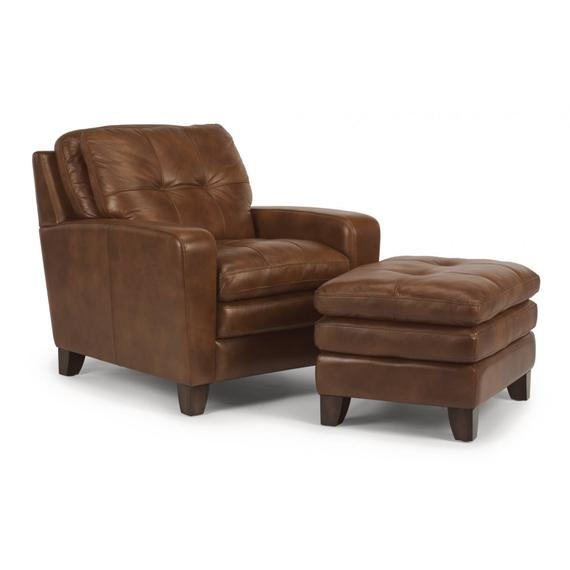 Flexsteel Home - South Street Leather Ottoman