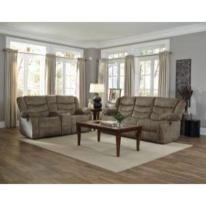 Gallery - Ridgecrest Manual Motion Reclining Upholstered Sofa, Tan