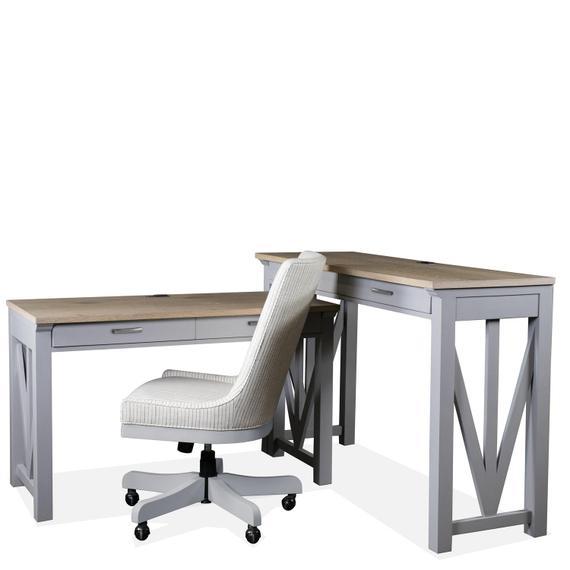 Riverside - Osborne - Upholstered Desk Chair - Gray Skies Finish
