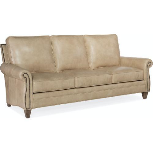 Bradington Young Reddish Stationary Sofa 8-Way Hand Tie 579-95