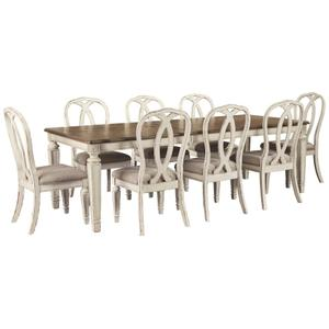 Ashley - Dining Table and 8 Chairs