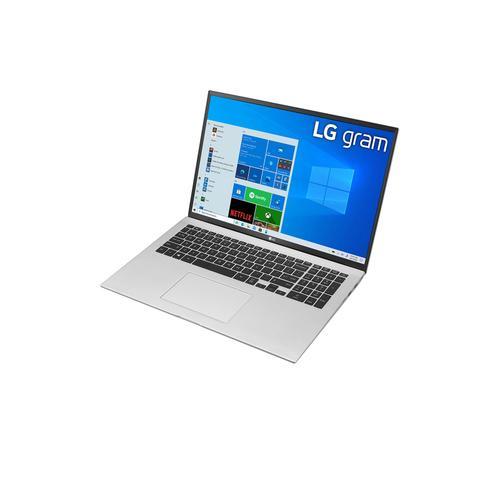 "LG - 17"" Silver 16:10 WQXGA gram Laptop with Windows 10 Pro, 16GB RAM, 512GB SSD, 11th Gen Intel® Core™ i7 Processor, Intel® Evo™ Platform & Thunderbolt™ 4"