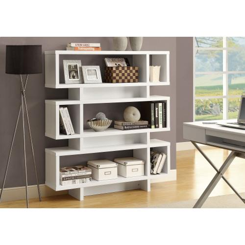 """Gallery - BOOKCASE - 55""""H / WHITE MODERN STYLE"""