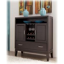 Dining Room Server Trishelle - Dark Brown Collection Ashley at Aztec Distribution Center Houston Texas