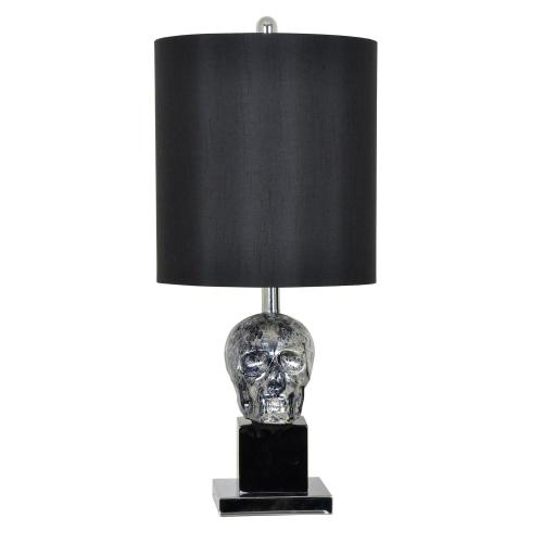 Black Skull Table Lamp