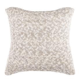Panna Knit Pillow - Light Grey / Natural / Gold