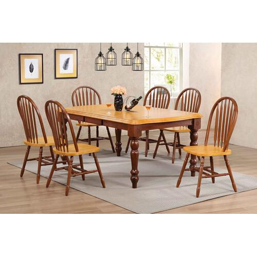 "Arrowback Dining Chair - Nutmeg with Light Oak Seat (38"")"