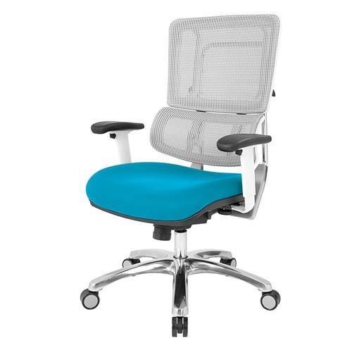 Breathable White Vertical Mesh Chair