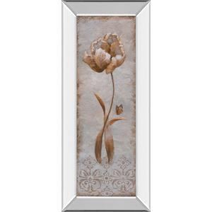 """Tulip & Butterfly Il"" By Nan Mirror Framed Print Wall Art"