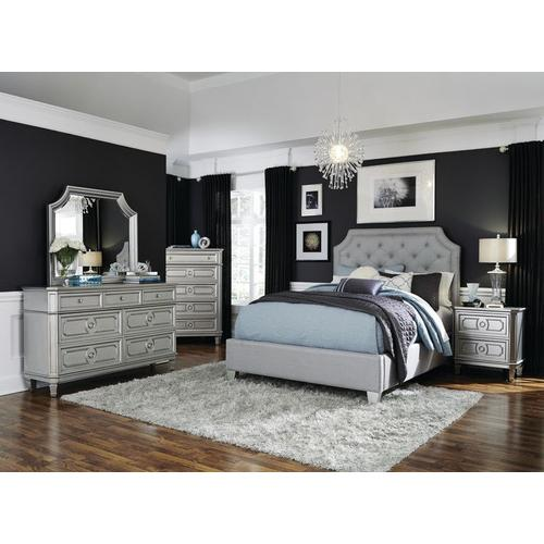 Windsor 5-Drawer Chest, Silver