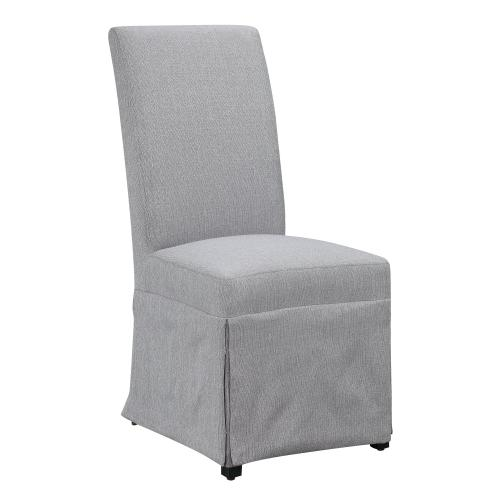 Emerald Home Paladin Parsons Chair Gray Upholstered-setup D350-22-23