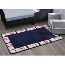 Boys Soft Kids Area Rug (2.5 ft x 4 ft) - All-American Stripes Red Blue & Tan (2200)