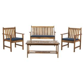 Burbank 4 PC Outdoor Set - Natural / Navy