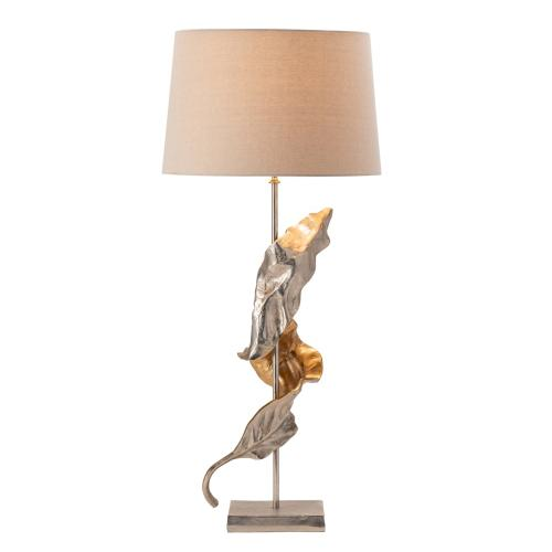 Product Image - Willow Two-toned Sculptural Leaf Table Lamp